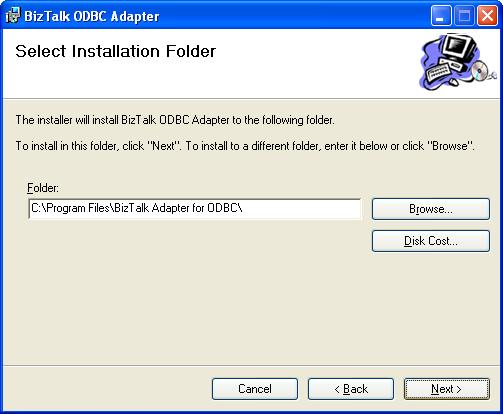 BizTalk 2009 Community ODBC Adapter - Installation Folder
