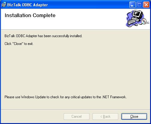 BizTalk 2009 Community ODBC Adapter - Installation Complete