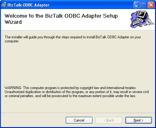 BizTalk 2009 Community ODBC Adapter - Splash Screen