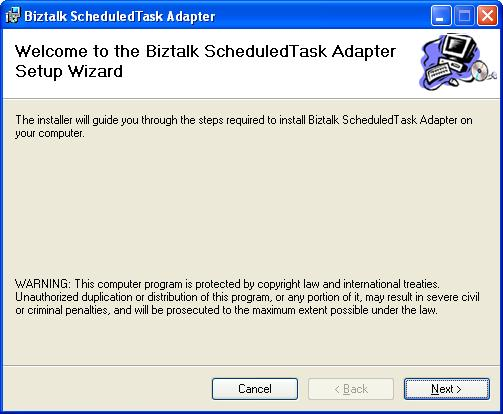 BizTalk 2009 Scheduled Task Adapter - Splash Screen