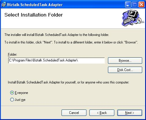 BizTalk 2009 Scheduled Task Adapter - Installation Location