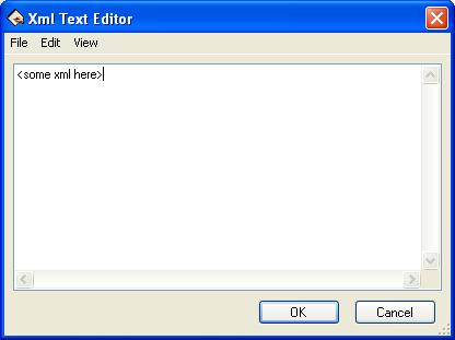 BizTalk 2009 Scheduled Task Adpater Receive Location - XML Text Editor