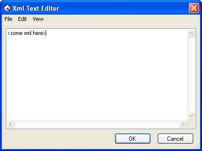 BizTalk 2009 Scheduled Task Adpater Receive Location - XML Text Editor