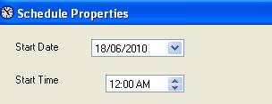 BizTalk 2009 Scheduled Task Adpater Receive Location - Start Date and Time