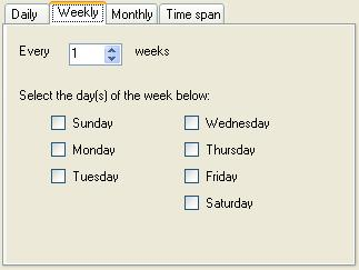 BizTalk 2009 Scheduled Task Adpater Receive Location - Weekly Schedule