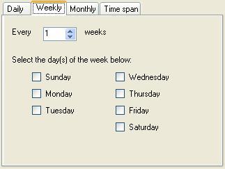 BizTalk 2009 Scheduled Task Adpater Receive Location - Weekly Schedule