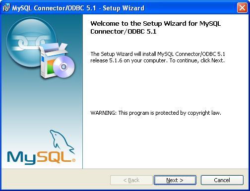 MySQL ODBC Data Connector - Splash Screen