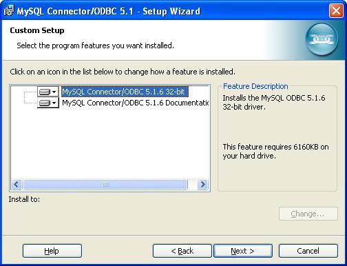 MySQL ODBC Data Connector - Custom Setup