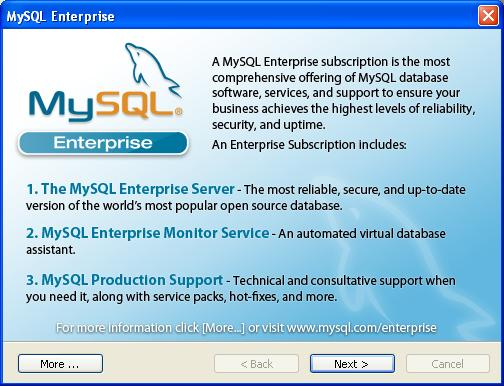 MySQL Installation - Subscription