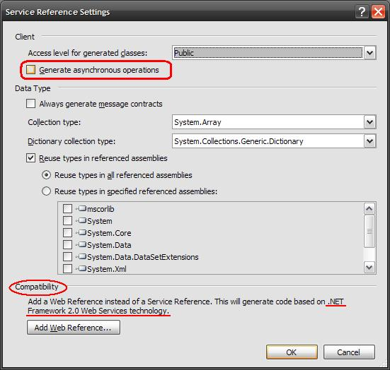 Advanced Settings (e.g., Asynchronous Methods)