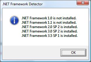 .NET framework vrsion detector