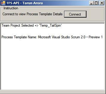 Tfs Api Process Template Currently Applied To The Team Project