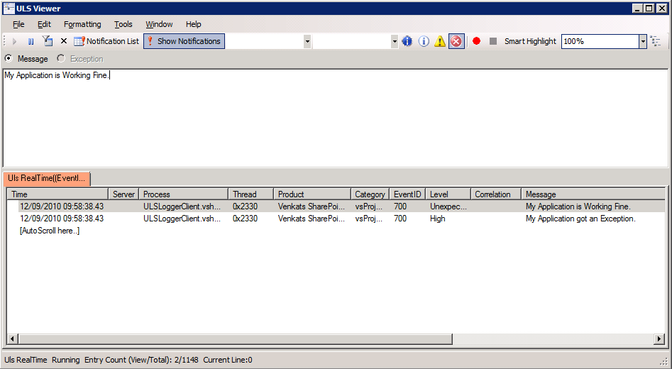 ULS Log Viewer