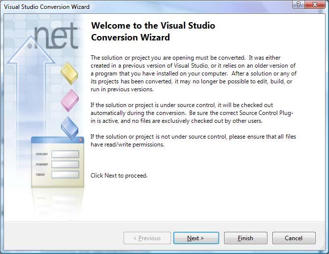 VS2010 Conversion Wizard