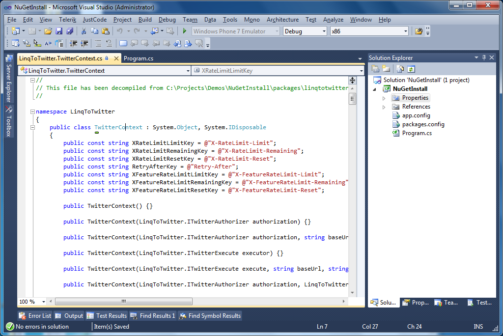 Pressing F12 on Types Without Code Shows MetaData in Visual Studio