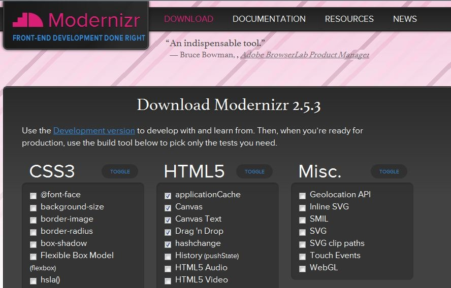 For Modernizr, Don't Stop with NuGet
