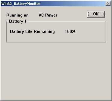Windows XP: Displaying Battery Status in C++