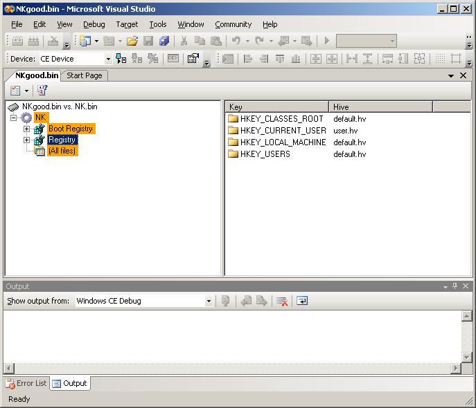 Platform Builder: Diff'ing NK bin Files