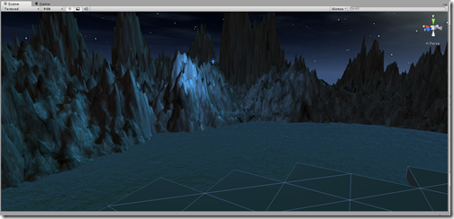 Basic terrain, water, and imported meshes