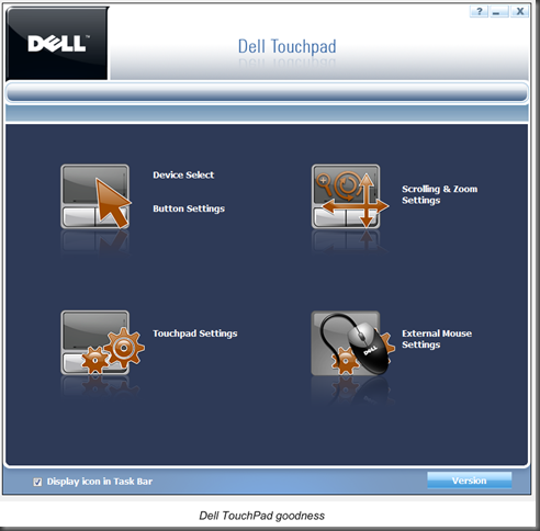 Dell TouchPad | Enabling/disabling