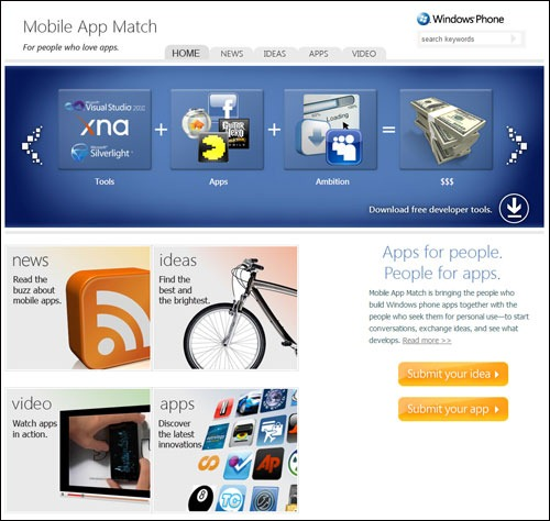 Match making mobile apps