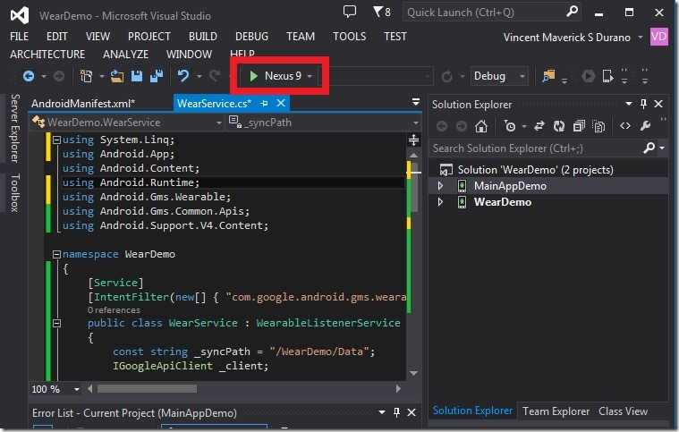 Xamarin Android - Testing, Debugging and Deploying Apps to Wear and