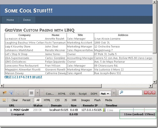 GridView Custom Paging with LINQ