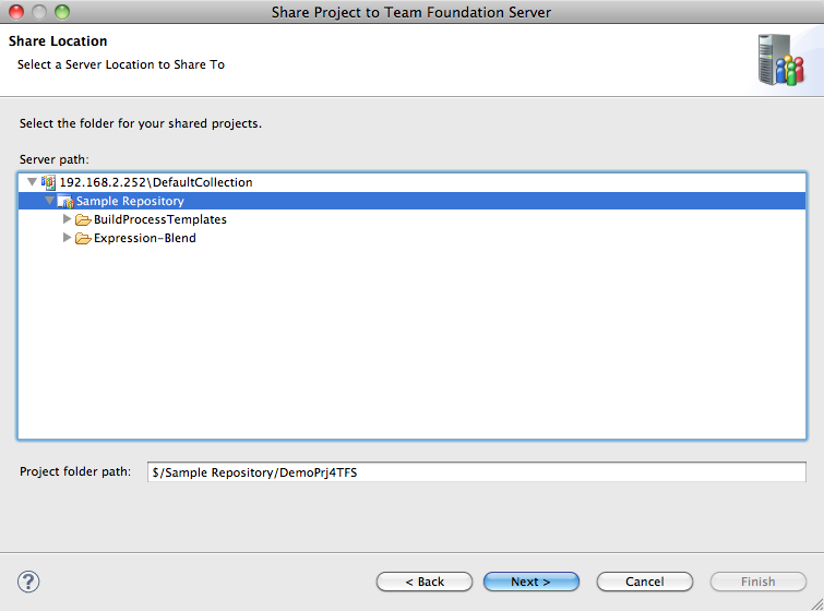 Adding a Java project in Eclipse to TFS using Team Explorer Everywhere