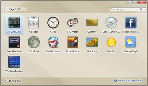 desktop minianwendungen