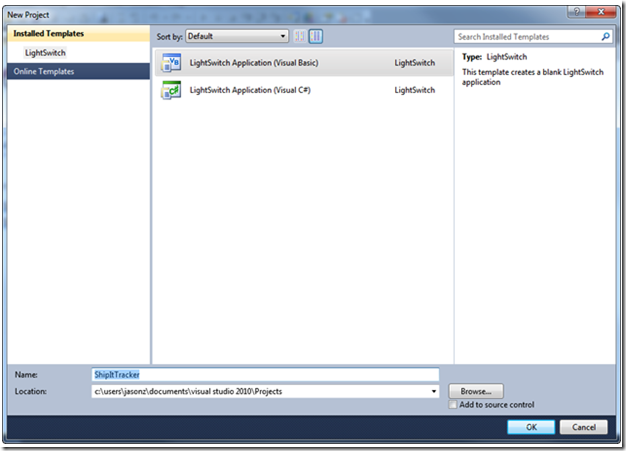Leave a comment for the software Microsoft Visual Studio Lightswitch for Windows