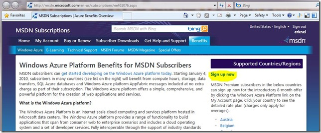 Step by Step sign up for the MSDN Subscriber offer for the