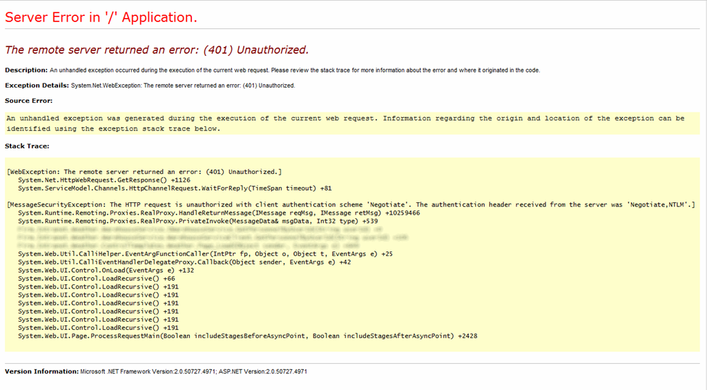 Credentials Not Passed From SharePoint WebPart to WCF