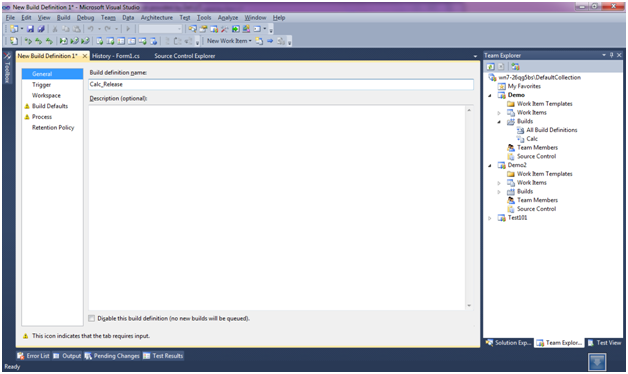 What's new in TFS 2010 Build Definition