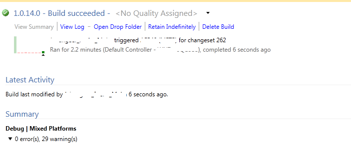 TF42064: The build number already exists for build definition error in