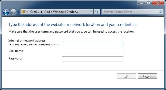 How to have Windows 7 remember a password for a Domain