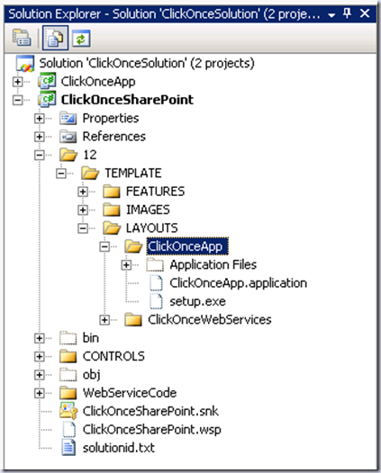 Integrating Windows Form Click Once Application into