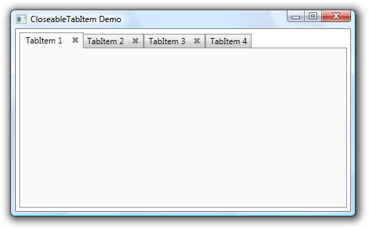 WPF TabItems With Close Button
