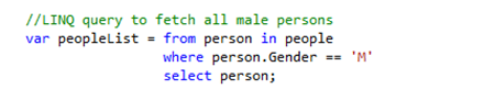 LINQ Query to fetch male