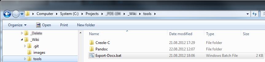 Converting Creole to HTML, PDF, DOCX,
