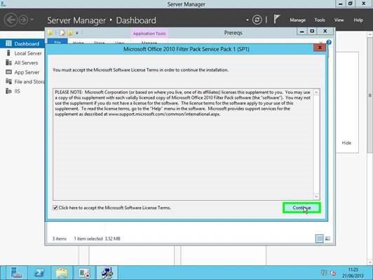 Installing exchange 2013 cu1 - Office filter pack for exchange 2010 ...