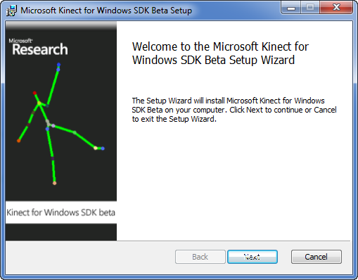 The busy developers guide to the Kinect SDK Beta