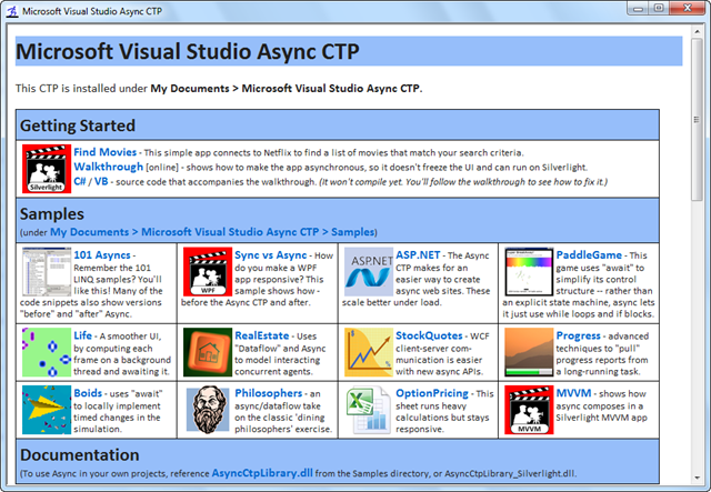 Visual Studio Async CTP for the rest of us…