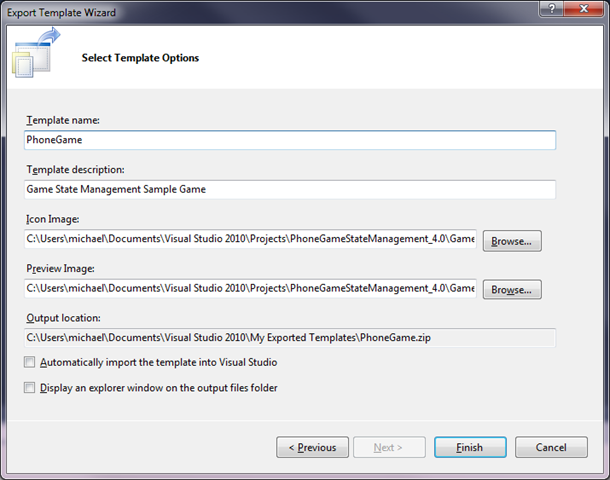 Tutorial: Turning a Solution into a Template for XNA 4 0