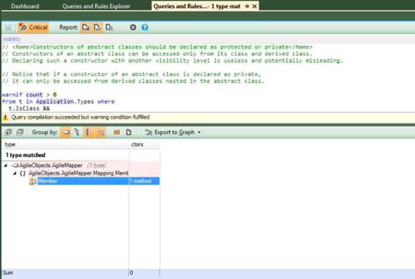 NDepend Non-Protected Abstract Class Constructor
