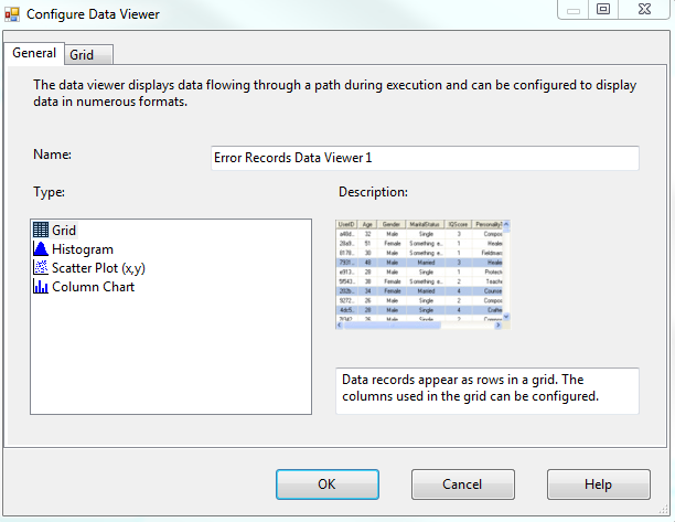 SSIS Debugging Tip: Using Data Viewers