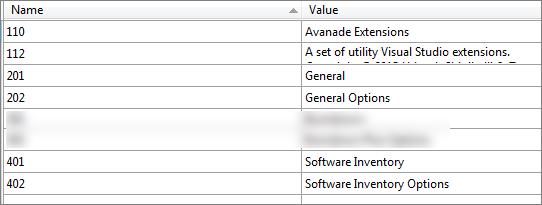 integration with visual studio options window using custom