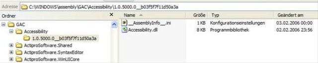 Windows Explorer and the Global Assembly Cache (GAC)