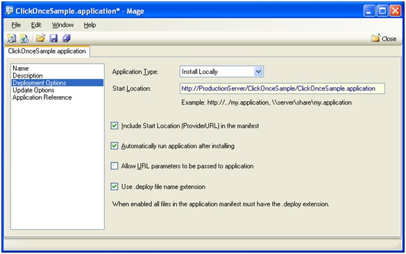 Click Once Deployment Process and Issue Resolution