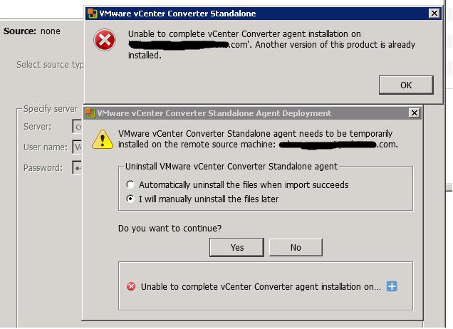 Converting Hyper-V to VMWare