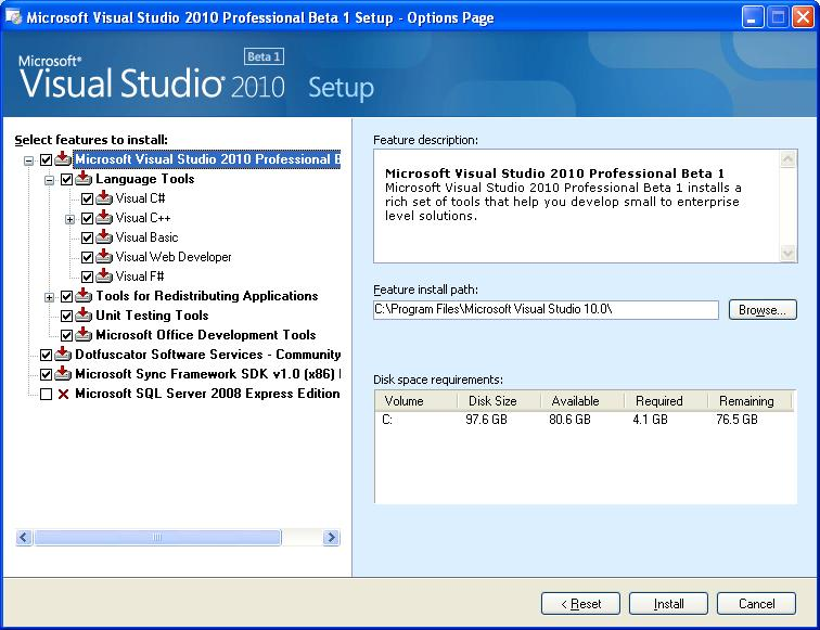 Step by Step : Installing Visual Studio 2010